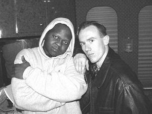 Photo of LMN writer Jason Kerner, right, with Mastamind