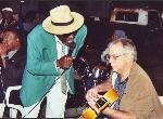 Fred Murphy and Pen Bogert busking on Bardstown Road