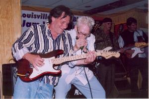Photo of Ricky Mason & Lamont Gillispie at Lisa's Oak Street Lounge, May 15, 2004