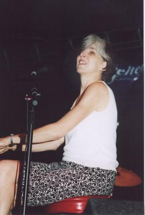 Photo of Marcia Ball <BR>at Ribberfest <BR>August 21, 2004