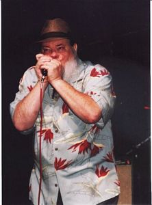 Photo of James Harman at the W. C. Handy Festival on June17, 2005