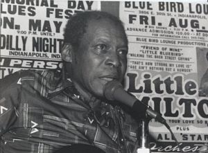 Photo of Henry Woodruff at Cherokee Blues Club, circa 1985