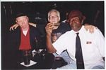 Photo of From left, Sylvester Weaver winners Smoketown Red, Lamont Gillespie and Fred Murphy at Headliners, August 1998..