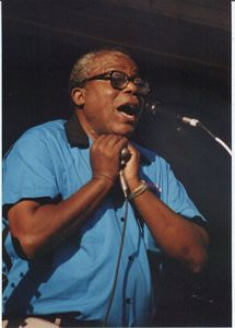 Photo of Sam Myers at the 1997 King Biscuit Festival