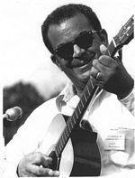 Photo of Ed Chesttnut Sr. at the American Folklife Festival in Washington, D.C. in 1973