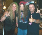 Photo of From left, XS singer Tim Mullins, Eddy Metal and arc Storace