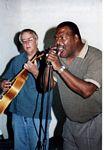 Photo of Pen Bogert, guitar, Billy Bird, vocals, 10th Street Blues Band, June 10, 2006
