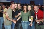 Photo of Partying at Staind concert, from left: Max Issacs, Kris Williams, Derrick Owens, Michelle Phillips, Eddy Metal , Eric Sachs (former Inhuman drummer)