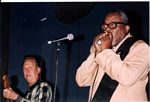 Photo of Anson Funderburg & Sam Myers @ Stevie Ray's October 2003