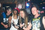 Photo of Left to right: local rockers partying with HedPE:. Jay from Slokill, Jahred from HedPE, Eddy Metal, Rod from E-flat, Todd from Slokill.